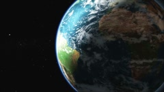 Earth rotation 360 (loops) HD - stock footage