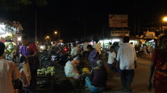 Night traffic in Hyderabad 4988-1 Stock Footage