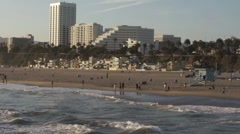 Beach in Santa Monica, CA Stock Footage