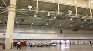 Spacious exhibition hall Stock Footage