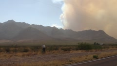 Wildfires and Smoke in Arizona (HD) Stock Footage