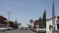 Driving in Mexico, near Arizona Border (HD) Stock Footage