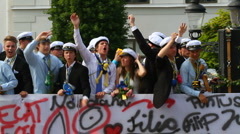 Swedish graduation students Stock Footage