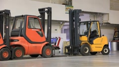 Forklift loaders Stock Footage