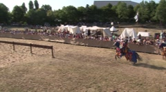 Medieval knights joust 3 - Historical movie - stock footage