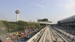 Changi Airport Skytrain Stock Footage