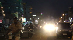 Night traffic in Hyderabad  4973 Stock Footage