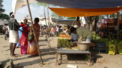 Vegetable market in Hyderabad  4967 Stock Footage