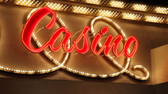 Casino sign las vegas nevada Stock Footage