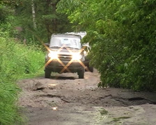 Car on the road Stock Footage