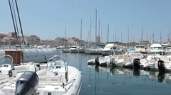 Marseille France boat marina P HD 0280 Stock Footage