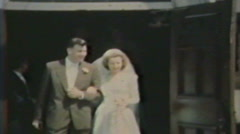 1940's - Wedding party - Niagara falls - stock footage