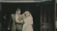 1940's - Wedding party - Niagara falls Stock Footage