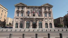 Marseilles France Hotel de Ville P HD 0210 Stock Footage