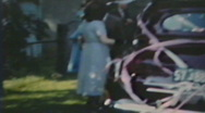 Stock Video Footage of 1940's - Just Married - Niagara falls