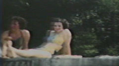 Stock Video Footage of 1940's - Cottage group - Niagara falls