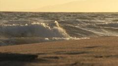 Beautiful Beach Waves HD - stock footage