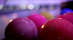 Lunar bowl at bowling alley - stock footage