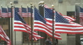American Flags in Manhattan 2 HD Footage