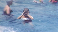Stock Video Footage of Learning To Swim Circa 1952 (Vintage Film Home Movie) 1kzv