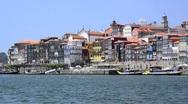 Douro river architecture scenic Stock Footage