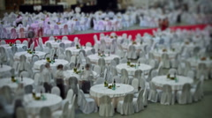 13 Tableware of grand banquet, timelapse Stock Footage
