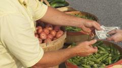 Farmers Market Vegetables Stock Footage