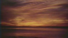 1930's - Sunset over Lake Ontario - Niagara falls Stock Footage