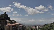 Stock Video Footage of Cloud Sky and City - Calabria, Italy - HD1080 Time Lapse