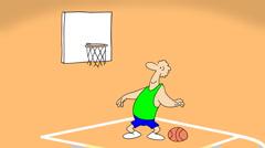 PLAYING BASKETBALL Stock Footage