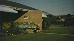 1950's - Hulahoop - Niagara falls Stock Footage