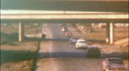 New Interstate Freeway Interchange Cars on ROAD 1950s Vintage Film Home Movie 94 Stock Footage
