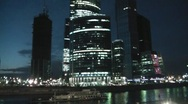 Night Moscow City 2 Stock Footage