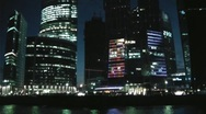 Stock Video Footage of Night Moscow City 4