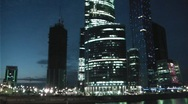 Stock Video Footage of Night Moscow City