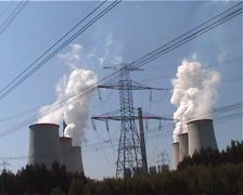 Power Station Front Shot Stock Footage