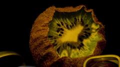 Stock Video Footage of kiwi kiwifruit 10 seconds time lapse rev 1 HD