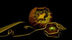 Stock Video Footage of kiwi kiwifruit 10 seconds rev 2 Timelapse HD