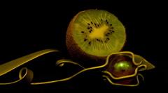 Kiwi kiwifruit 10 seconds Timelapse 2 HD Stock Footage