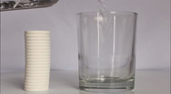 Stock Video Footage of Glass of water with effervescent tablet