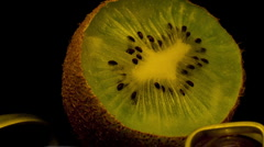 Kiwi  kiwifruit 10 seconds 1 Timelapse HD Stock Footage