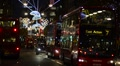 London. Oxford Street. Christmas Decorations. Footage