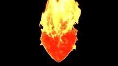 Heart on fire - stock footage
