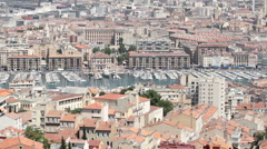 Marseille France downtown pan P HD 8714 Stock Footage