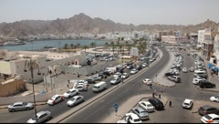 View of Mutrah Corniche, Muscat Stock Footage