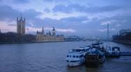 London, London Eye, River Thames and London Eye. TIME-LAPSE Stock Footage