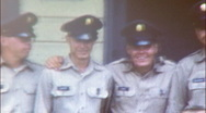 Stock Video Footage of AMERICAN SOLDIERS BUDDIES Barracks BOOTCAMP 1960s Vintage Film Home Movie 102