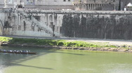Stock Video Footage of Rowing Team - Canoe in Tiber River - HD1080