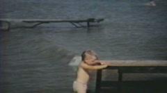 1950's - Family at beach 2 - Niagara falls Stock Footage
