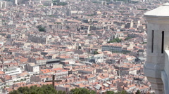 Marseille France pan through city P HD 8711 Stock Footage